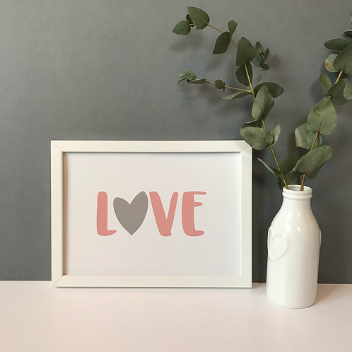LOVE - Landscape Print