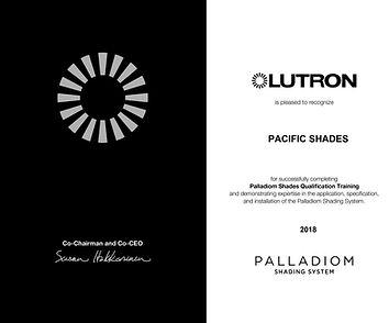 Palladiom Shades Qualification Certifica