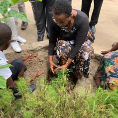 Planting trees in Tanzania