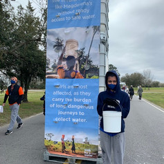 Walking for water in Charleston, SC