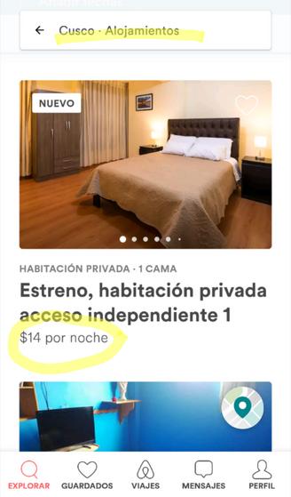 Habitaciones Airbnb