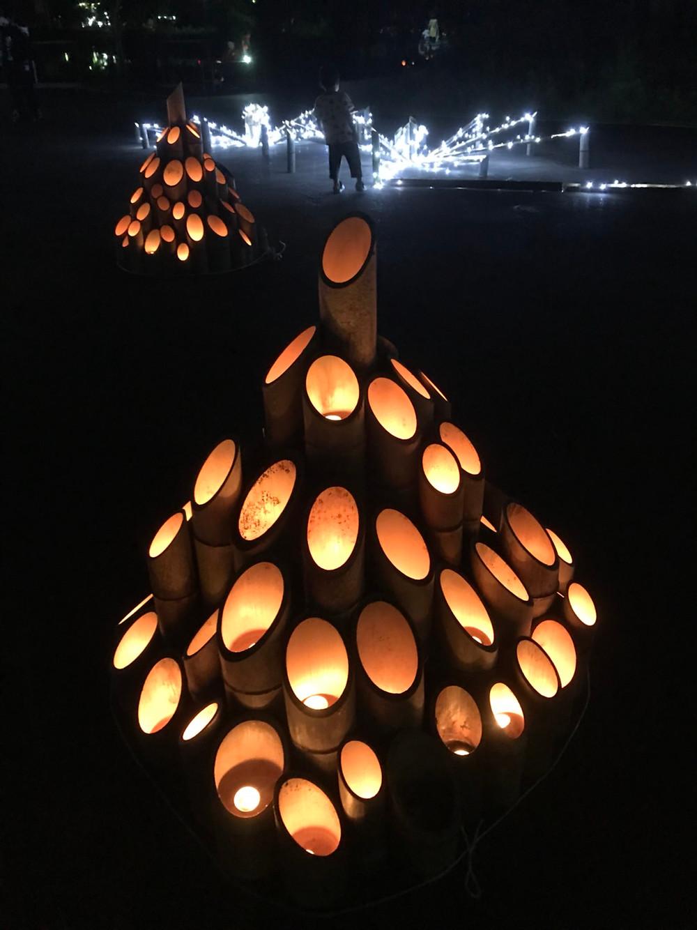 竹の灯篭(ろうそく)