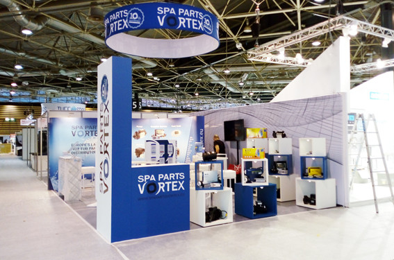 Stand Vortex. Piscine Global Europe - Feria de Lyon -