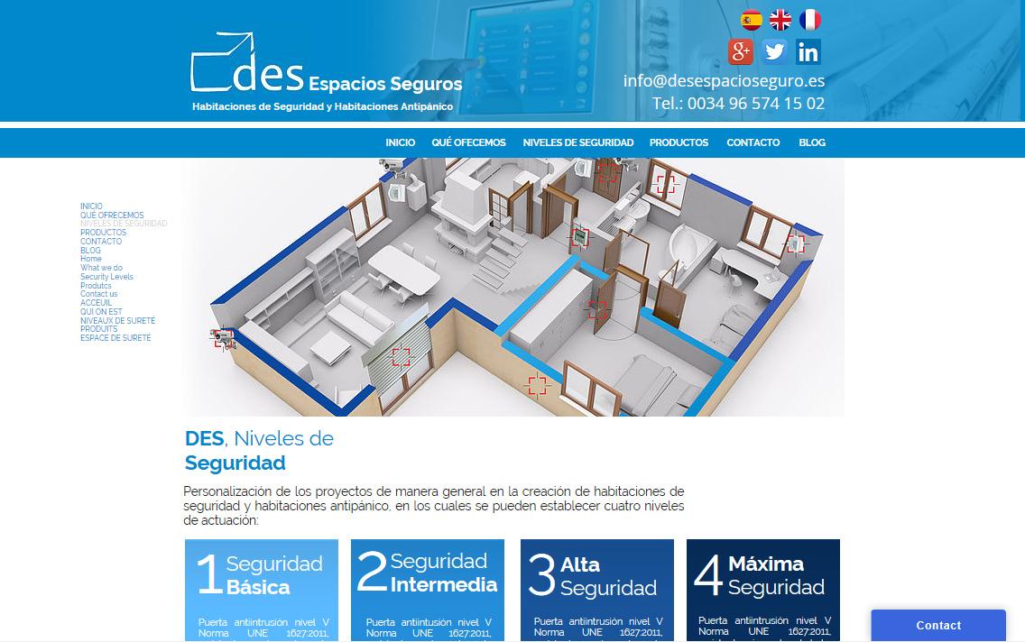 Diseño de página web para Des