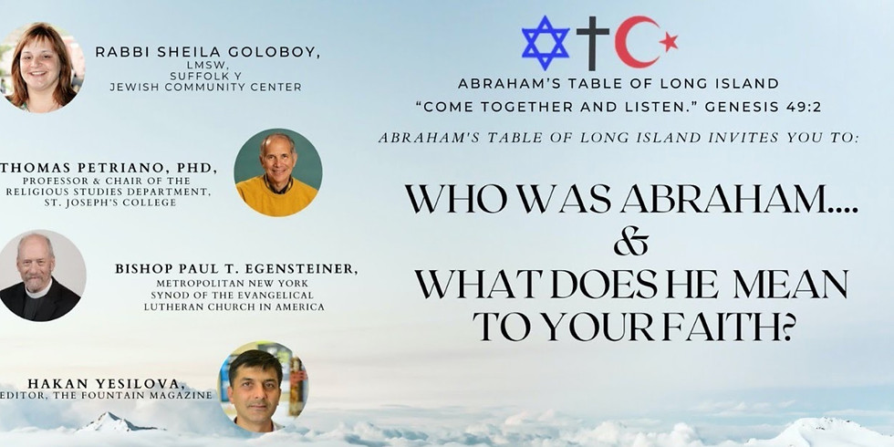 Abraham's Table Online Panel Discussion