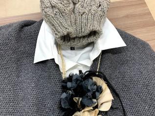 お友達手編みニット帽❕とっても素敵!