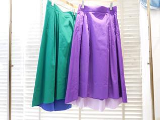 パッショーネ 裾配色バックロングスカート