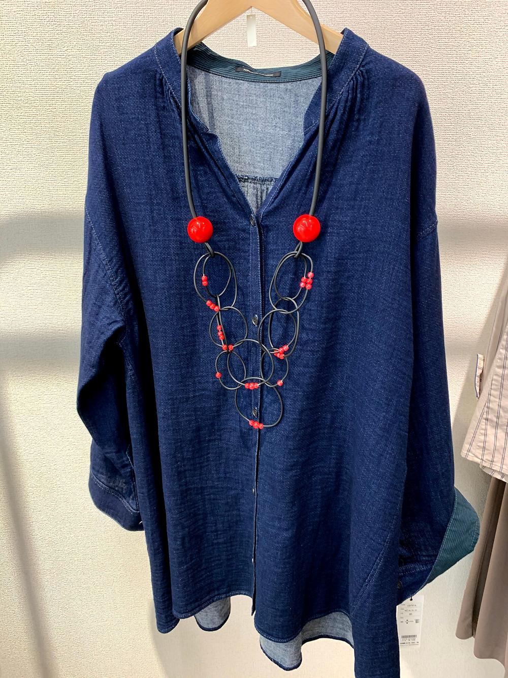 ネックレス赤 10000円+TAX