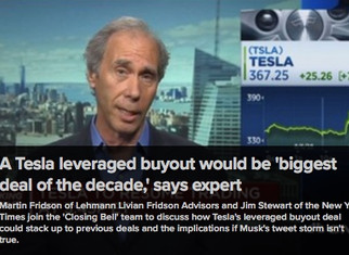Marty's Thoughts on Tesla's Buy-out (CNBC) 08/07/2018