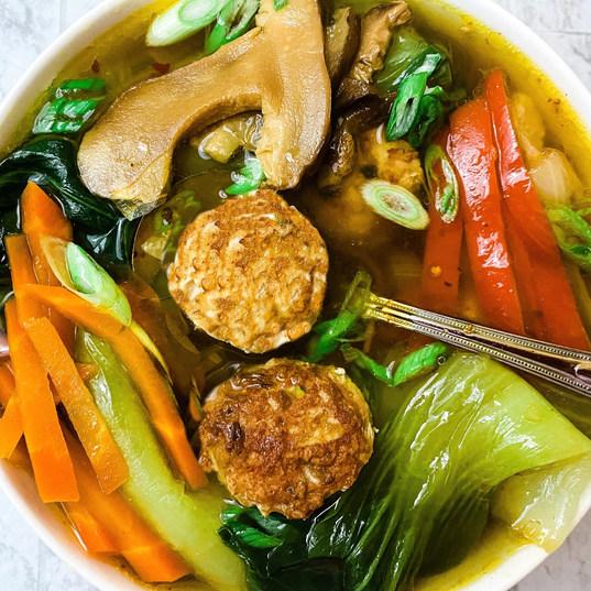 asian meatball soup