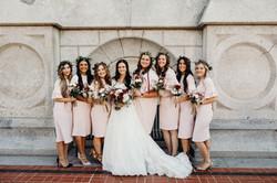 Amanda Jones and Bridesmaids