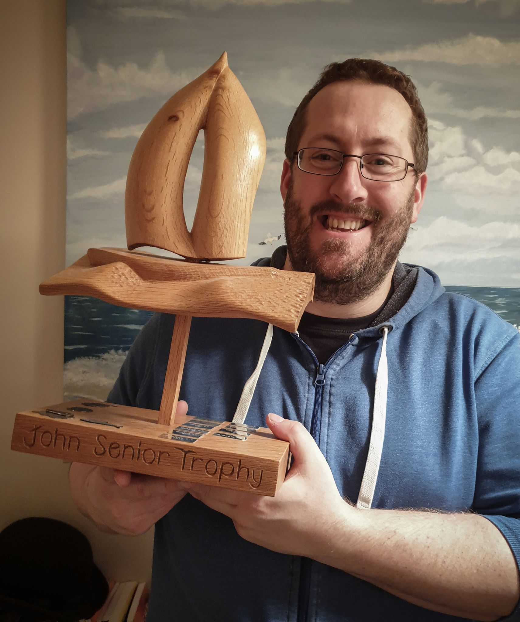 Ben with John Senior Trophy