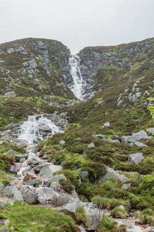 The waterfalls were dramatic