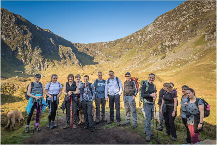 We made good time up to Corrie Fee, and most were still smiling enough for the 'tourist shot'