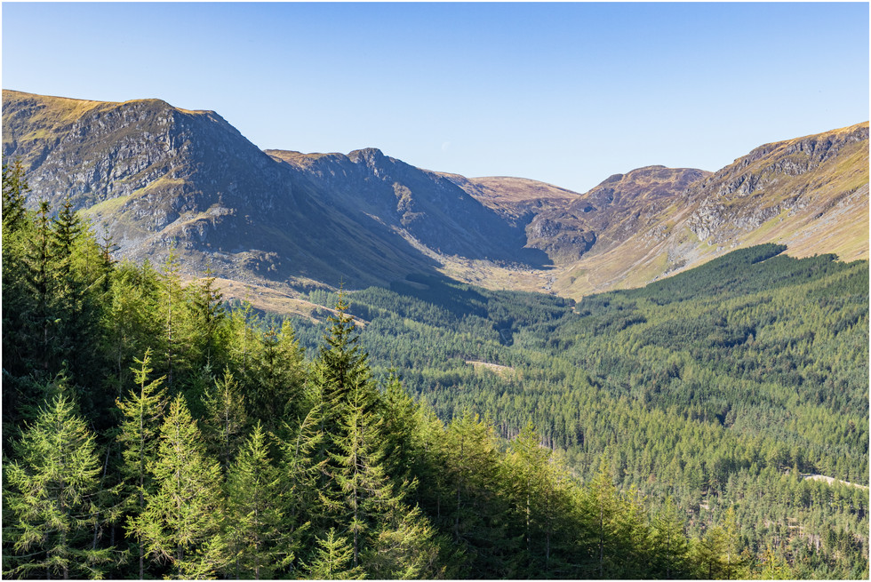The view back up Glen Doll
