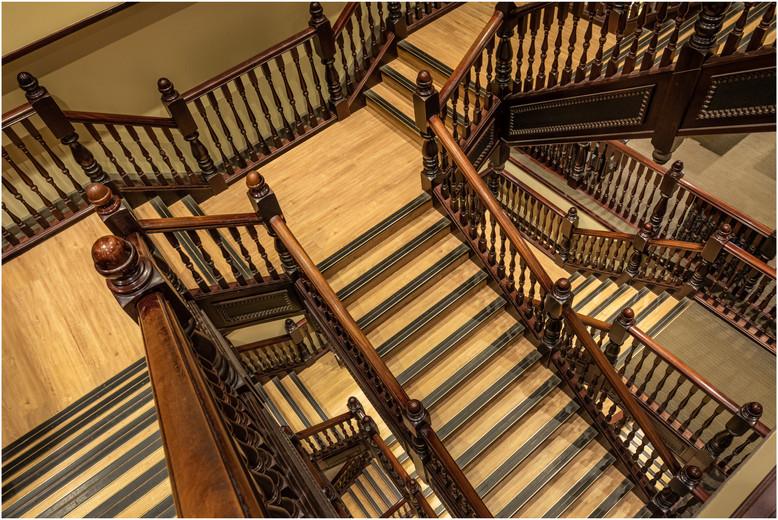 The staircase in Waterstones Bookshop, Edinburgh