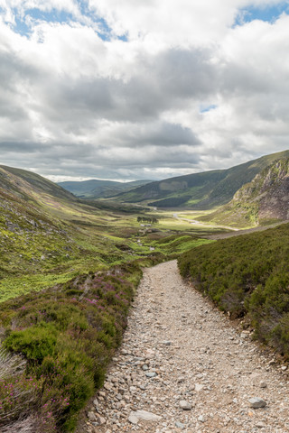 Looking back down Glen Mark from the ascent of Mount Keen