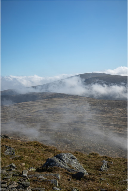 The view towards Driesh from the top of Mayar