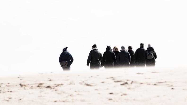 People on the beach, Newburgh
