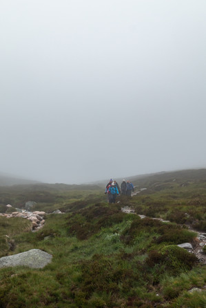 After descending to around 1400 feet, we finally emerged from the cloud