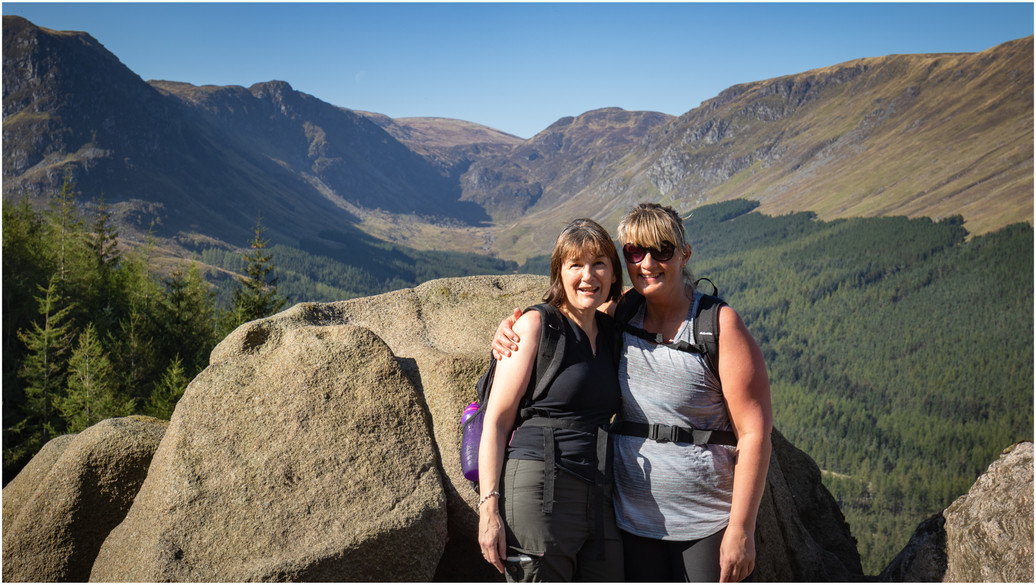 Eileen and Lorna, who between them raised a phenominal sum of money for CLAN cancer support