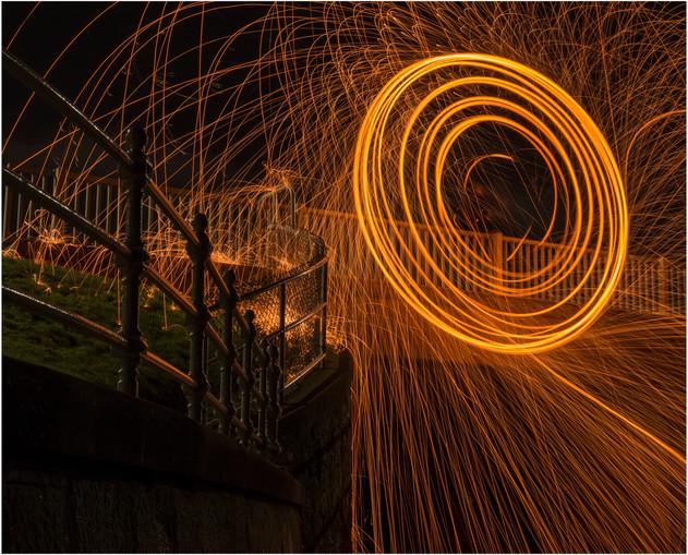 Fire Spinning, Aberdeen Beach