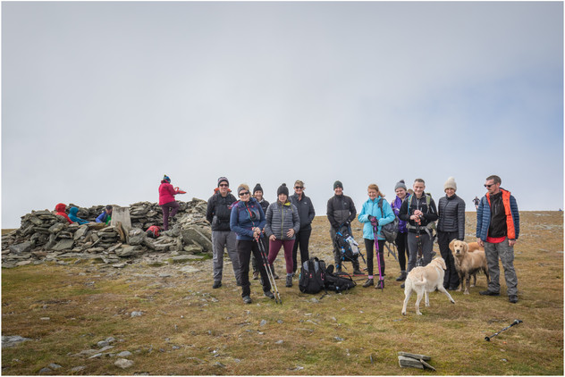 The push up to Driesh was steeper than many of us expected, but with cloud on the summit, the trig point almost came as a pleasant surprise