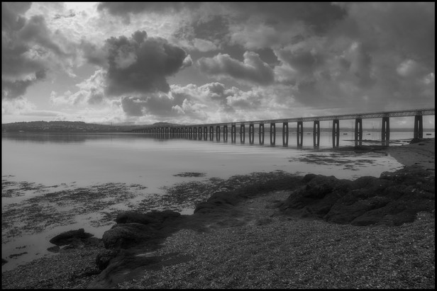 Tay Bridge from Wormit Bay by Charlie Allison