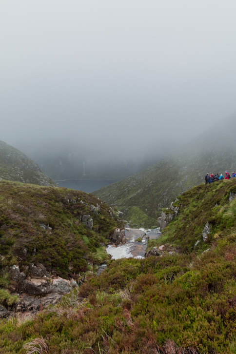Loch Muick sneaking into view, and thoughts of making it home alive start to feel more real