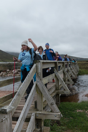 The team cross the bridge and the car park feels within reach at last
