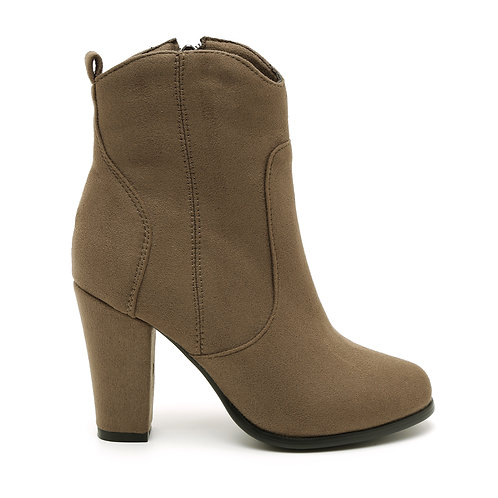 Khaki High Heel Boots Size 34-35
