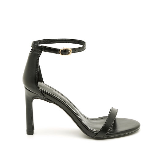 Black 8 CM Thin Heel And Straps Size 33-35