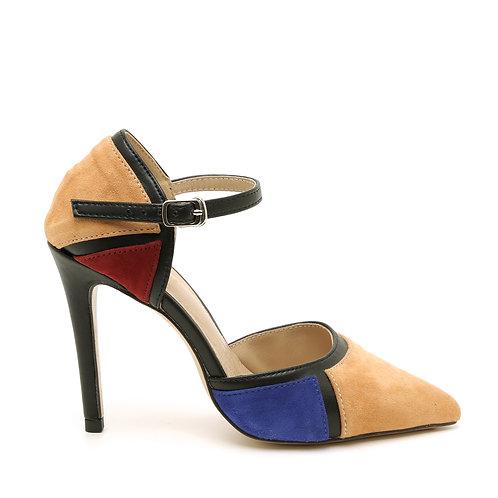 Multicolor Ankle Strap D'orsay Shoes Size 33