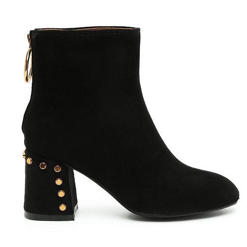 Black Rivet Heel Boots Size 34