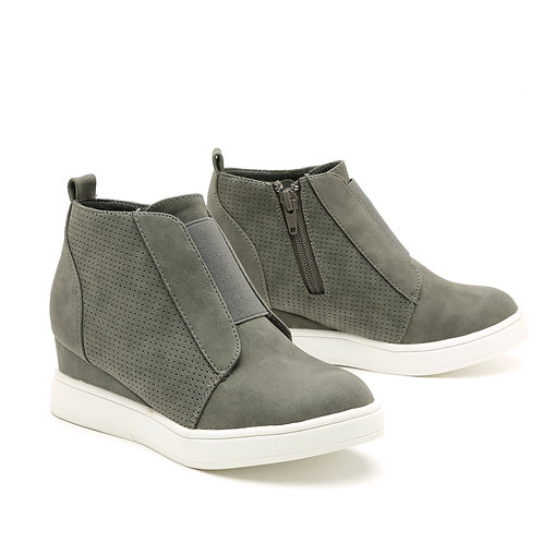 Grey Wedge Heel Sneakers Size 30-34