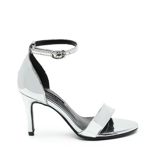 Silver 8 CM Heel Stiletto Sandals Size 32-35
