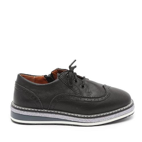 Black Low Platform Lace Up Shoes Size 30-35