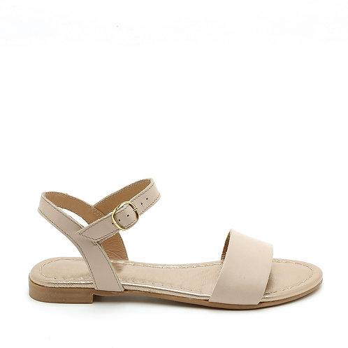 Blushed Pink Flat Sandals Size 33-34