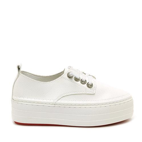 Platform White Sneakers Size 34-35