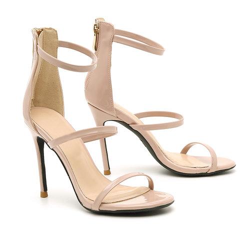 Pink Patent High Heel Stiletto Sandals Multi Straps Sandals Size 33-35