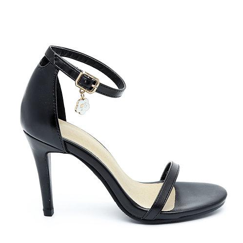 Black Thin Heel Sandals Size 33-35
