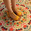 Thumbnail: Mustard Yellow T-Strap Peep Toe Low Heel Sandals Size 32-35