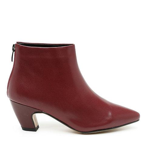 Deep Red Mid Heel Booties Size 34-35