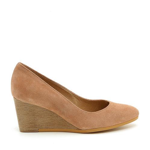 Pink Suede Wedge Heel Pumps Size 33-35