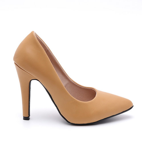Light Brown Pointed High Heel Pumps Size 32-35