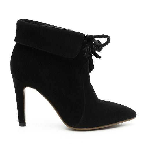 High Heel Stiletto Black Boots Size 34