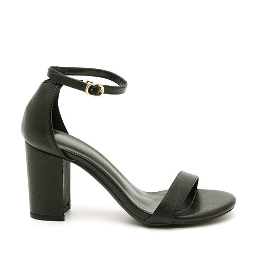 Black Block Heel Sandals Size 33-35