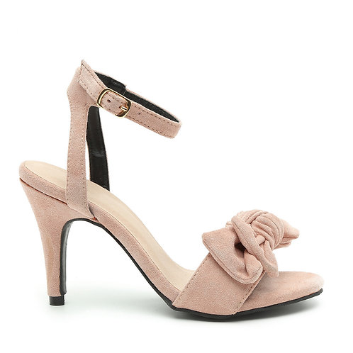 Blushed Pink Bow Tie Heel Sandals Size 35
