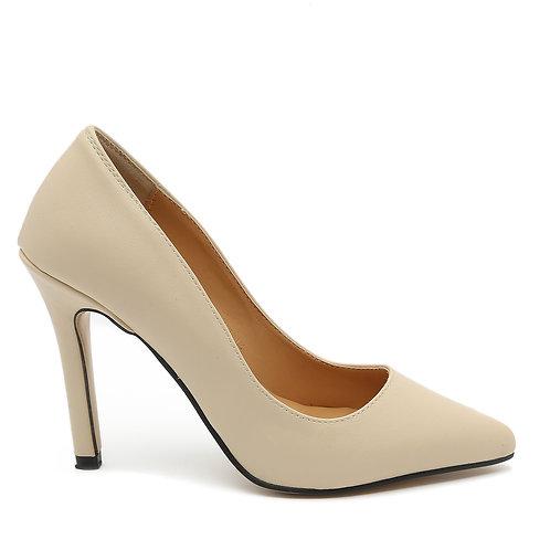 Beige High Heel Stiletto Pumps Size 33