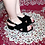 Thumbnail: Black Crossed Strapped Low Heel Sandals Size 32-35